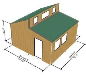 Tiny House 256 Sq Ft Tiny House Kits Tiny House Plans Flat Roof Shed
