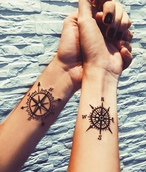 40 Unique and Matching Couple Tattoo Designs #Tattoo #TattooDesigns #CoupleTattoos