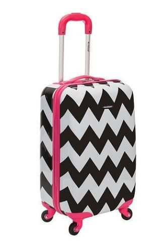 Carry On Luggage Spinner 20 Hardcase Girls Pink Black White ...