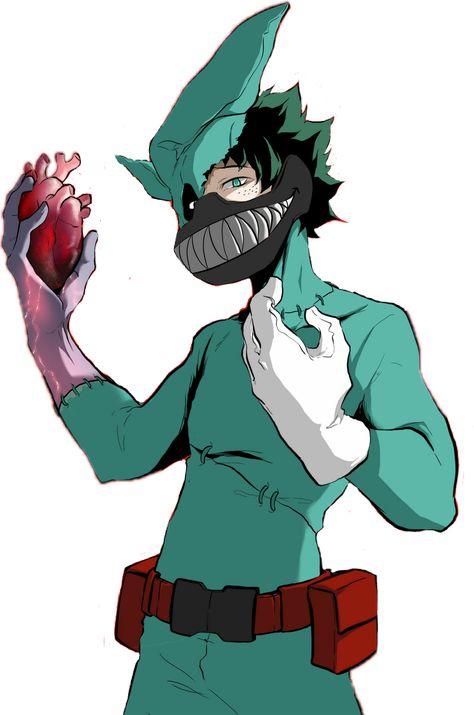 The Glitching Quirk Villain Deku Villain Anime