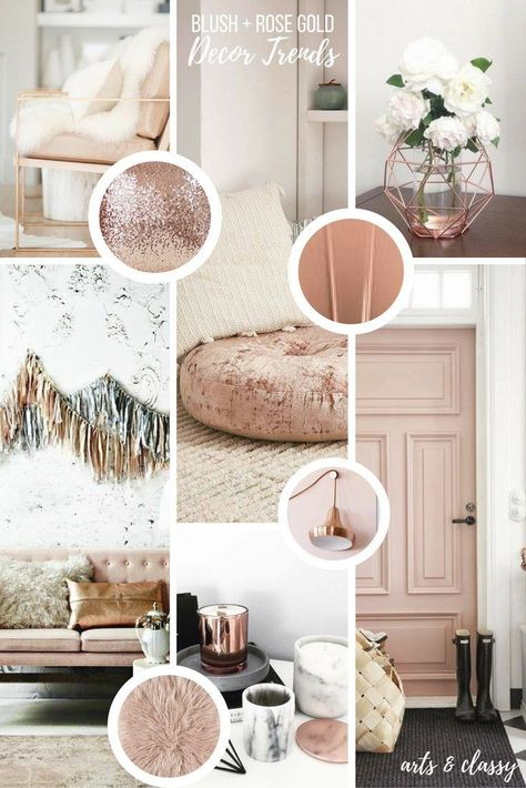 Rose Gold Interior Decor Inspiration