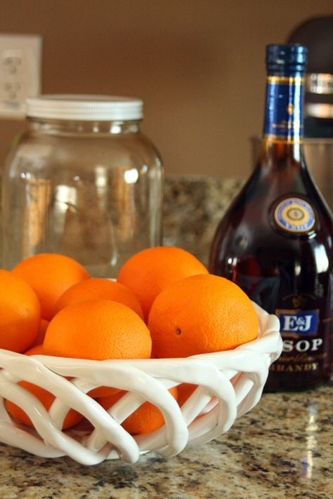 Homemade Grand Marnier: I learned how to make this from my friends!  Grand Marnier is an orange flavored liquor. I would consider it a staple for any home bar. It tends to be pretty expensive, so this homemade version is significantly cheaper and tastes better. It's really simple to make, but it takes a little bit of waiting. So I'd recommend you get yourself some oranges and make it this weekend, then you can enjoy it all summer long! It also makes really great gifts.
