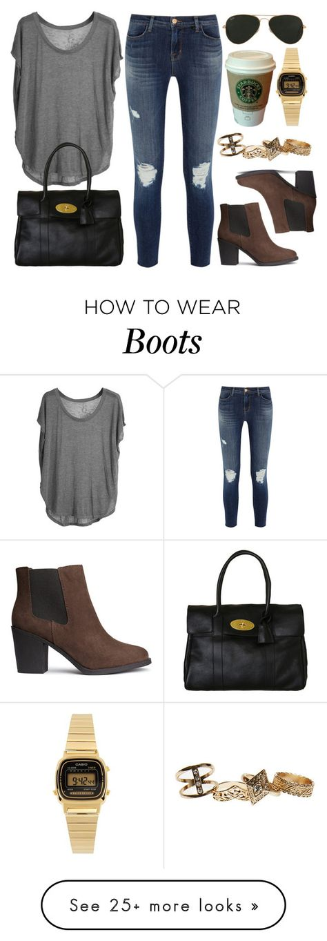 """""""Style #9308"""" by vany-alvarado on Polyvore featuring mode, J Brand, Chaser, H&M, Mulberry, Ray-Ban, Wet Seal, MANGO en Casio"""