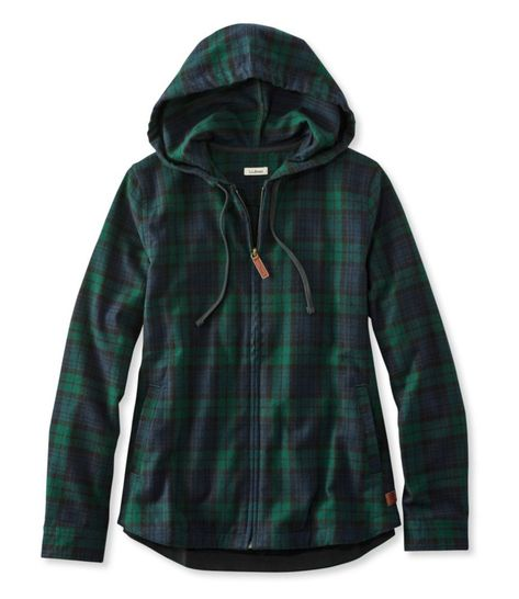 Scotch Plaid Flannel Shirt, Relaxed Zip Hoodie - LL Bean Intl Plaid Fabric, Plaid Flannel, Flannel Shirts, Women's Shirts, Flannel Jacket, Tartan Plaid, Ll Bean, Scottish Plaid, Scottish Tartans