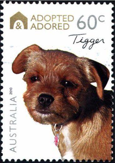 Sello Tigger Australia Adopted Adored Mi Au 3414 Sn Au 3298 Yt Au 3293 Sg Au 3435 Wad Au092 10 Stamp Tigger Postage Stamp Art