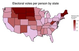 Electoral Votes Per Person By State Oc 1677 X 1084 Map Maps Pinterest Comment And Us States