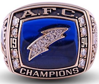 1994 AFC Championship ring⚡️ #sandiego #chargers #BoltCrew