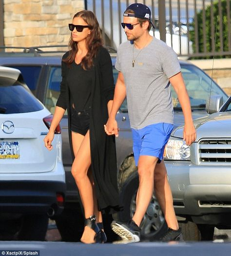 PDA: Irina and Brad were seen holding hands while walking in Atlantic City, New Jersey dur...