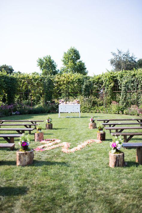 Beautiful Wedding Setting In The Silverton Market Garden At Oregon Weddings Pinterest And