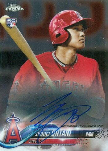 2018 Topps Chrome Baseball Rookie Autographs Shohei Ohtani