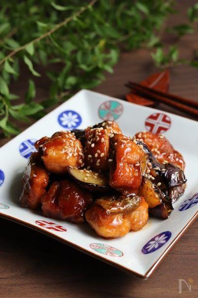 ごはんがすすむ ナスと鮭の甘酢照り焼き 主材料2つ By 夢 レシピサイト Nadia ナディア プロの料理家のおいしいレシピ レシピ 鮭 おいしい ごはん