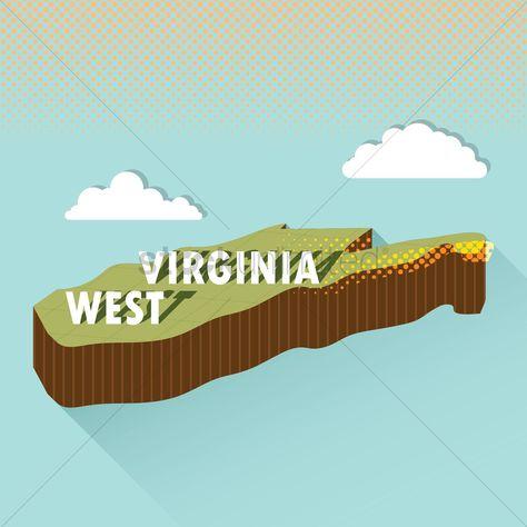 West virginia map vector illustration , #AFF, #virginia, #West, #map, #illustration, #vector #affiliate