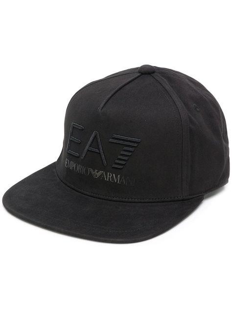 EA7 EMPORIO ARMANI EA7 EMPORIO ARMANI EMBROIDERED LOGO CAP - BLACK.   ea7emporioarmani f5562cff6fbf
