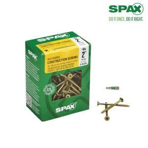 Spax 8 X 2 In T Star Drive Flat Head Partial Thread Yellow Zinc Coated Multi Material Screw 161 Box 4191020400506 Zinc Coating Wood Screws Flat Head