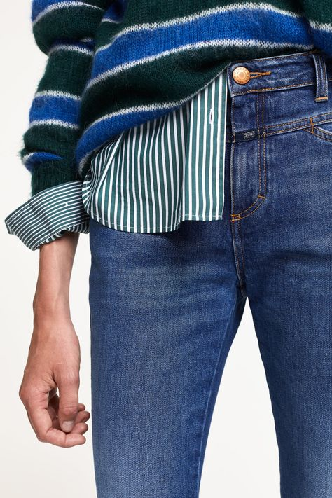 SKINNY PUSHER Jeans Skinny Fit mid blue