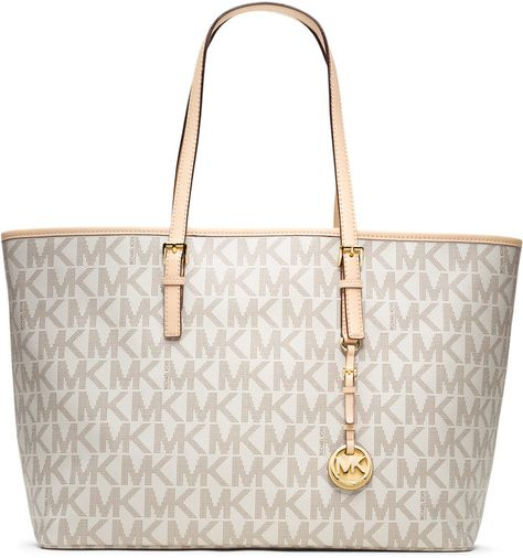 Michael Kors W Grayson Gold tone Large Dust Gold Leather