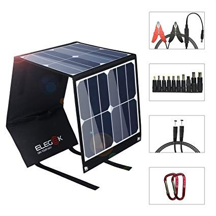 Foldable Solar Charger 40w Portable Solar Panel Elegeek High Efficiency Folding Solar Charger With 5v U Solar Panel Charger Portable Solar Panels Solar Charger
