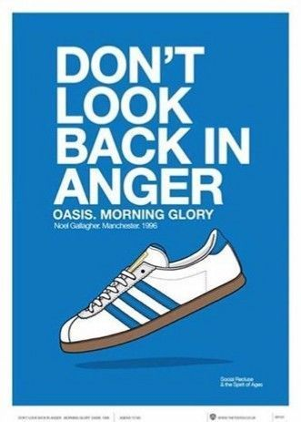 Adidas Sneakers Scarpe Shoes Flyer Advertising Oasis Don T Look