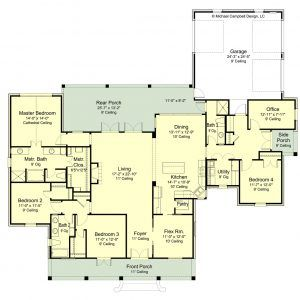 Plan 2700 85 Garage Floor Plans House Plans Floor Plans
