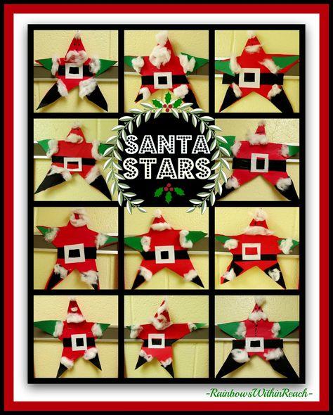 Santa Stars via RainbowsWithinReach