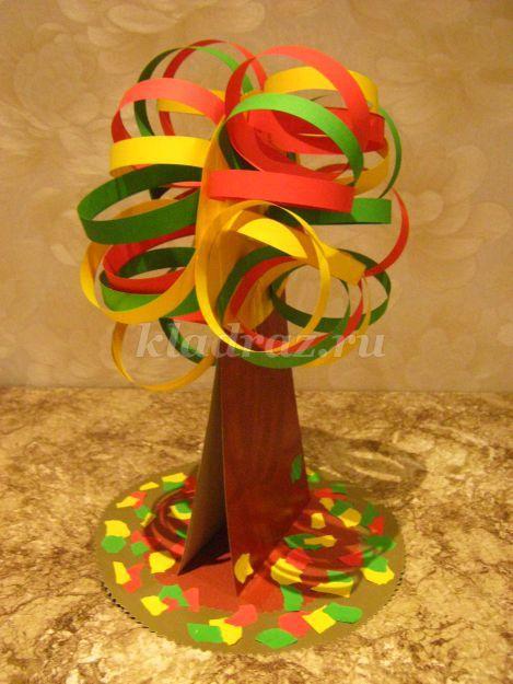 Поделка дерево из цветной бумаги