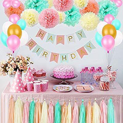 Litaus Tri Color Birthday Decorations Party Decorations Supplies