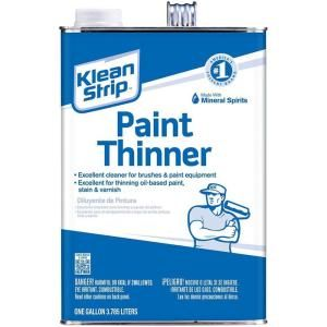 Klean Strip 1 Gal Paint Thinner Gkpt94002p The Home Depot In 2020 Paint Thinner Exterior Wood Stain Staining Wood