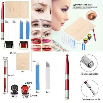 Advertisement Anself Eyebrow Microblading Set Permanent Tattoo Kit Manual Eyebrow Tattoo Kits Permanent Eyebrow Tattoo Permanent Makeup Cosmetics