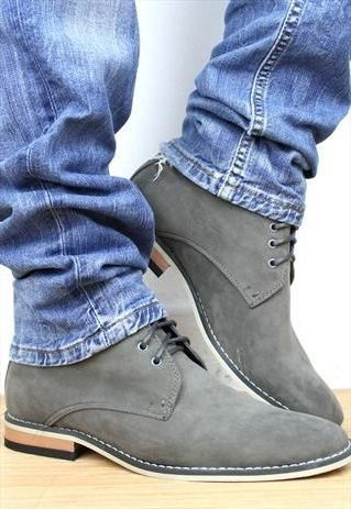 New Handmade Grey Suede Leather Shoes