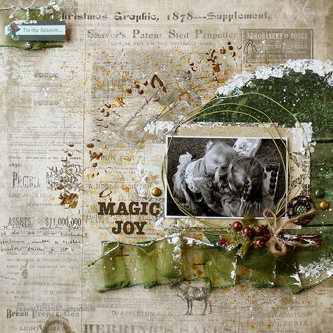 C'est Magnifique Scrapbook Kits and Store: More Magnifique Mixed Media Kit Projects with Riikka Kovasin!