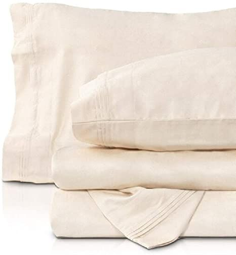 4 Piece 1000 Thread Count Egyptian Cotton Sheets Full Set Traditional Plain Weave Ultra Soft Comfy Long Last Egyptian Cotton Sheets Cotton Sheets Queen Sheets 1000 thread count egyptian cotton