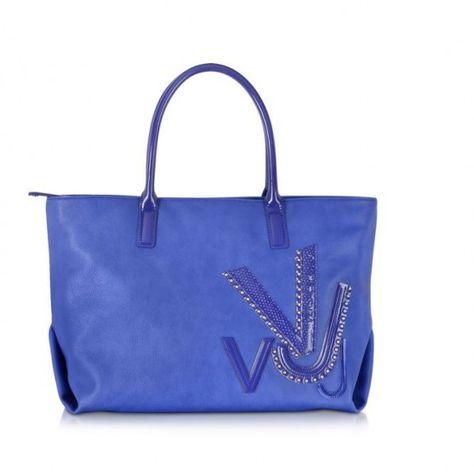 320e8577f6 I Prezzi ufficiali delle Borse Versace Jeans in Vernice 2014 Versace Jeans  borse primavera estate 2014 blu  versacejeans  bags