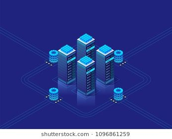 Data center concept  Abstract high technology background for