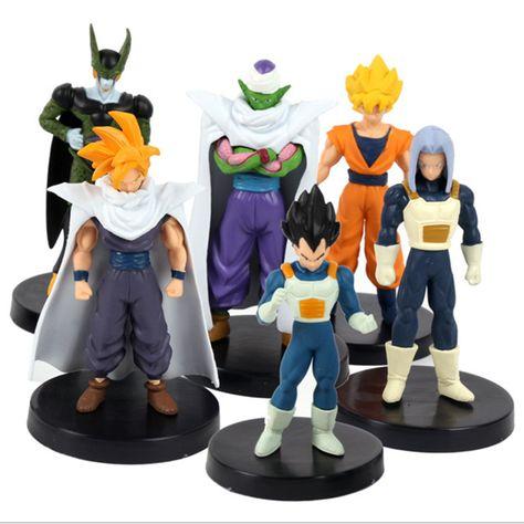 Piccolo Vegeta Set de 6 Figuras de acción Goku Gohan Dragon Ball Z Cell