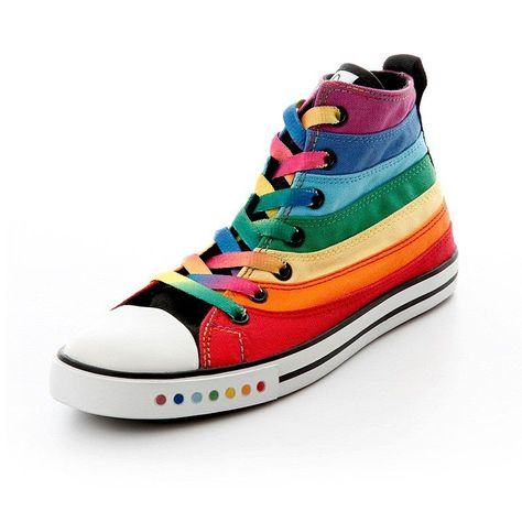 Rainbow Pride Canvas Shoes | Casual shoes, Girls shoes
