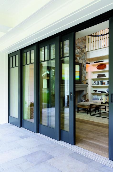 Embrace The View With Pella Architect Series Multi Slide Patio Doors Sliding Patio Doors Patio Doors Interior Barn Doors