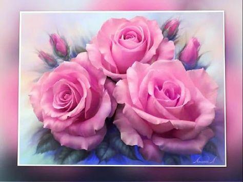 Como Pintar Rosas Youtube Diy Oils Acrylic Colors Rose