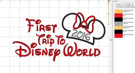 Minnie or Mickey Mouse 2016 Disney First by LauraBethDesignsLLC