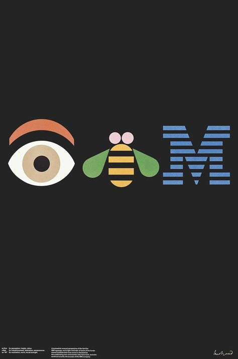 Paul Rand (1914-1996), IBM, lithograph in colours,1982.