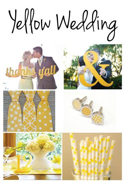 Etsy inspired yellow wedding ideas