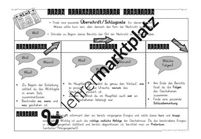 Zeitungsbericht Schreiben Unterrichtsmaterial Im Fach Deutsch Zeitungsbericht Zeitung Schreiben