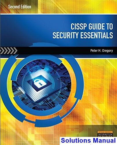 Cissp Guide To Security Essentials 2nd Edition Gregory Solutions Manual Digital Deal Promotion 2021 Buy Textbooks Ebook Free Books Online