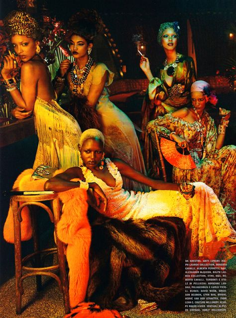 Vogue Italia's Editorial Starring Chanel Iman, Ajak Deng, and Joan Smalls
