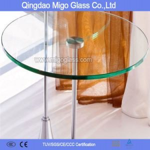 Hot Item 10mm Round Tempered Glass Table Tops Glass Top Table Tempered Glass Table Top Glass Table