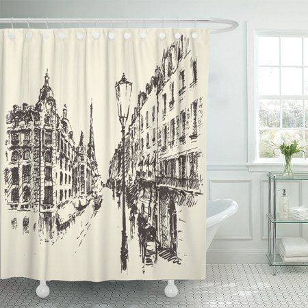 Home French Street Paris France Shower Curtain