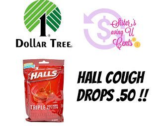 Sisterssavingucents 50 Halls Cough Drops Cough Drops Cough