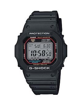 Casio G Shock Radio Controlled Solar Black Dial Black Silicone Strap Mens Watch G Shock Solar Casio G Shock G Shock