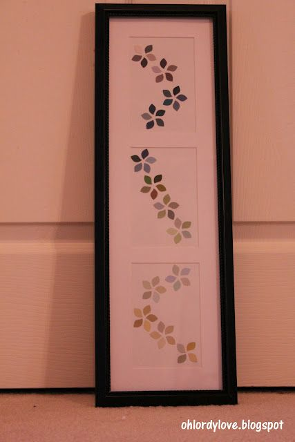 Paint Chip Art - Pinterest Challenge