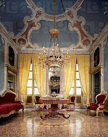 Italian Salon With Victorian Era Furnishings And Exquisite