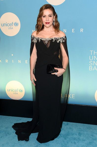 Alyssa Milano attends the UNICEF USA's 14th Annual Snowflake Ball at Cipriani Wall Street.